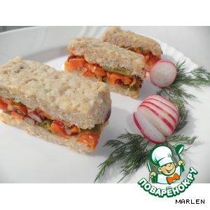 Капуста белокачанная - Запеканка из курицы с рисовыми хлопьями и овощами