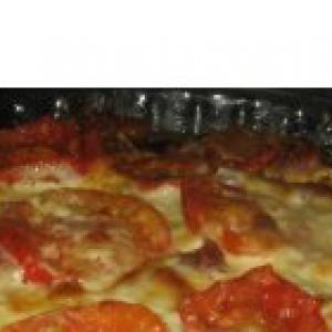 Шафран - Запеканка из риса с беконом и помидорами