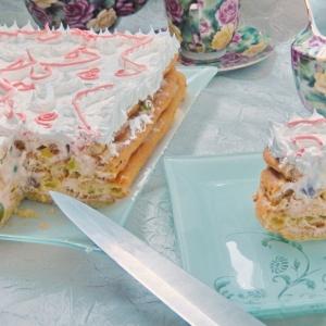 Персик - Заварной торт Необычная нежность