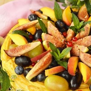 Фрукты - Заварной торт с фруктами