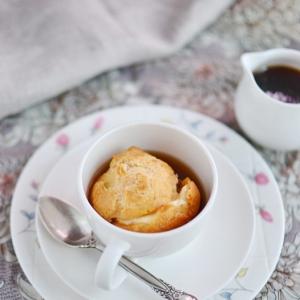 Ликер - Заварные булочки с кофейно-ванильным соусом-карамель