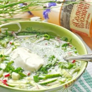 Йогурт - Зеленая окрошка