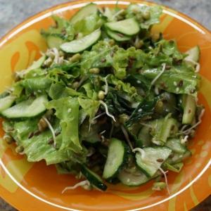 Шпинат - Зелёный салат с пророщенным машем