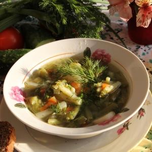 Брокколи - Зеленый суп с индейкой