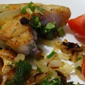 Рецепты славянской кухни - Жареная рыба по-казачьи