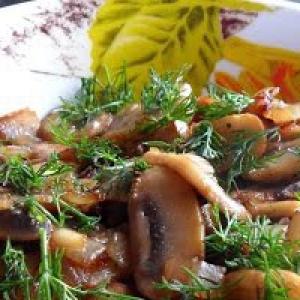 Жареные грибы - Жареные грибы с луком