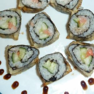 Рецепты азиатской кухни - Жареные роллы без яиц