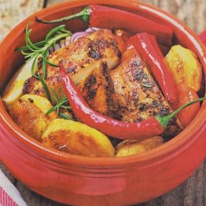 Рецепты из мяса птицы - Жаркое из курицы с овощами