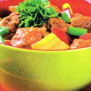 Тушеное мясо - Жаркое из свинины с болгарским перцем