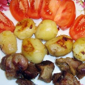 Желудки - Желудочки с молодым картофелем