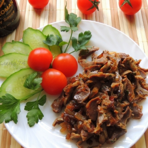 Желудки - Желудочки в соевом соусе